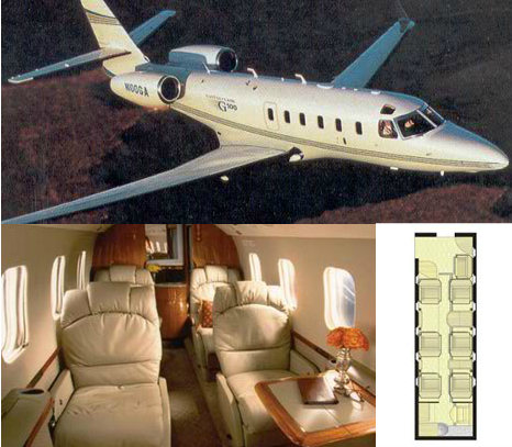 New Jersey Air Charters Gulfstream 100 Jet for Rent