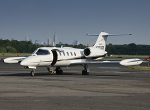 the learjet 35 private plane charter service availavle from the new jersey area air charters