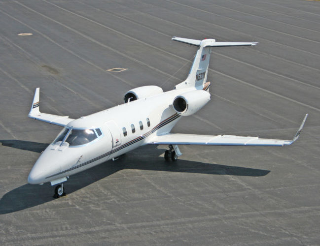 Private jet charter light jets Learjet 55