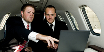 Business executives meetings on chartered private jet. Business Jet services New York area.